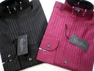 ドレスシャツ スタンドカラー 2重衿