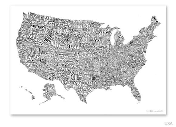 送料無料 Luckies word map USA ラッキーズ ワー...