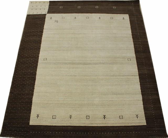 インドギャベ ハンドルーム (手機織り) ラグカー...