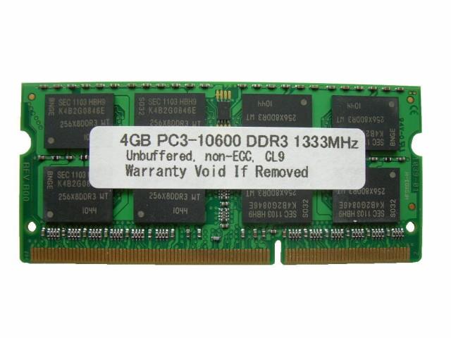 SODIMM 4GB PC3-10600 DDR3 1333 204pin CL9 MAC...