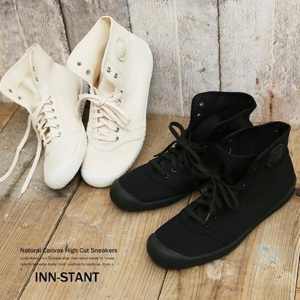 スニーカー メンズ ハイカット キャンバス 靴 INN...