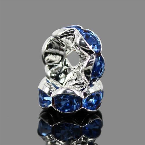 ロンデルパーツA (ブルー) (10個)ブルー6mm...