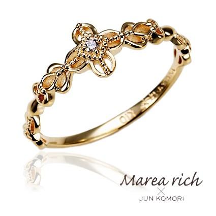 10金ゴールド ピンキーリング 小指の指輪 ファラ...