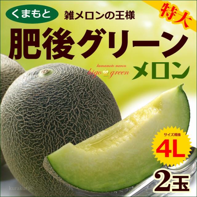 【送料無料】 肥後グリーンメロン 1玉で約2kgの特...