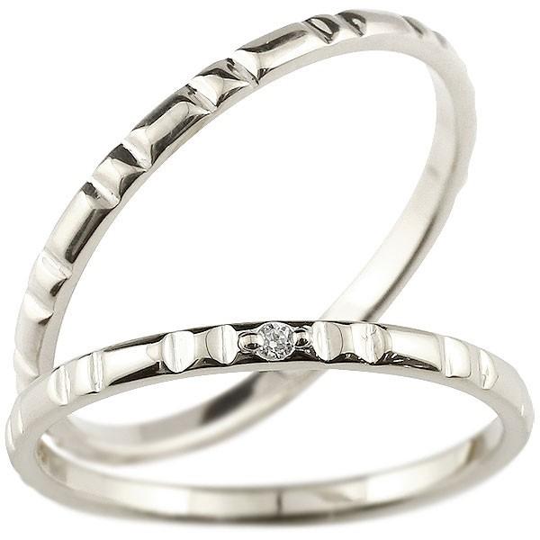 ペアリング プラチナ ダイヤモンド 結婚指輪 マリ...