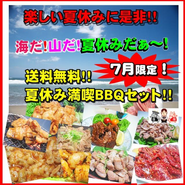 送料無料 7月限定 夏休み満喫 ホルモンBBQセット ...