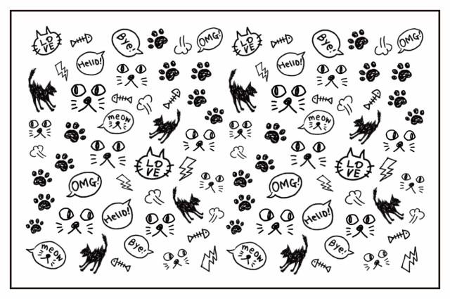 アメイリー★No.3-13(黒猫) オシャレすぎるネイル...