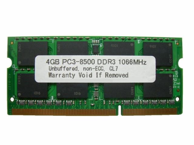 SODIMM 4GB PC3-8500 DDR3 1066 204pin CL7 PCメ...