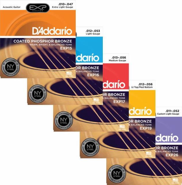 Daddario/アコースティック弦 EXP Coated Phospho...