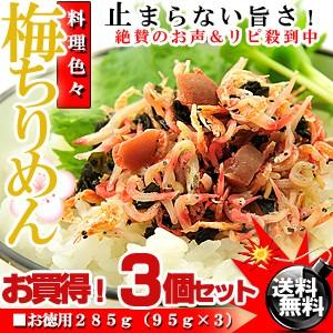 カリカリ梅と小魚のコラボ♪梅ちりめん 285g (95g...