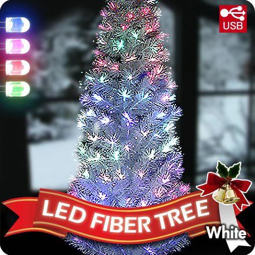 LEDファイバーツリー 210cm クリスマスツリー 光...