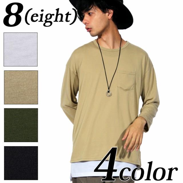Tシャツ メンズ 長袖 ロング丈 全4色 新作 Tシャ...