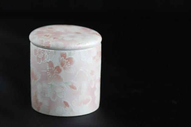 ミニ骨壺 国産 仏具 ■ ファンシー骨壺 ミニ 桜 ...