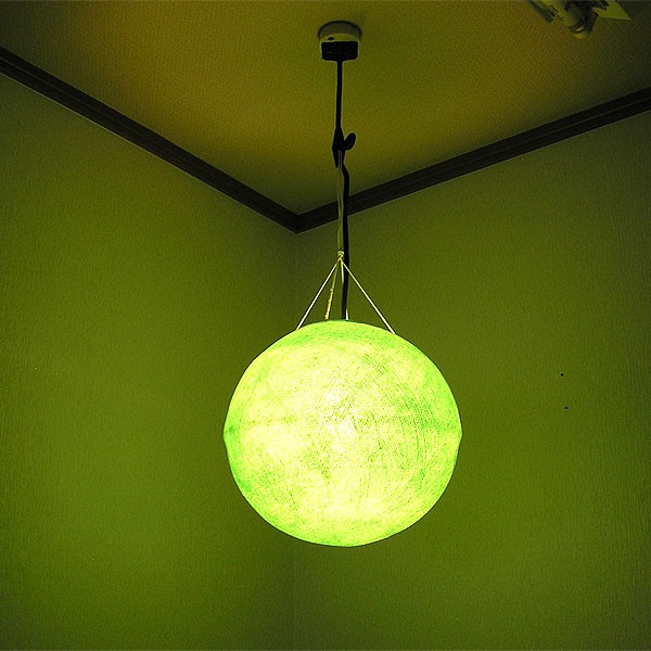 アジアン コットンのボールランプ [直径約30cm] ...