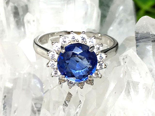 1点物!美麗AAA天然石☆カイヤナイトリング(指輪...