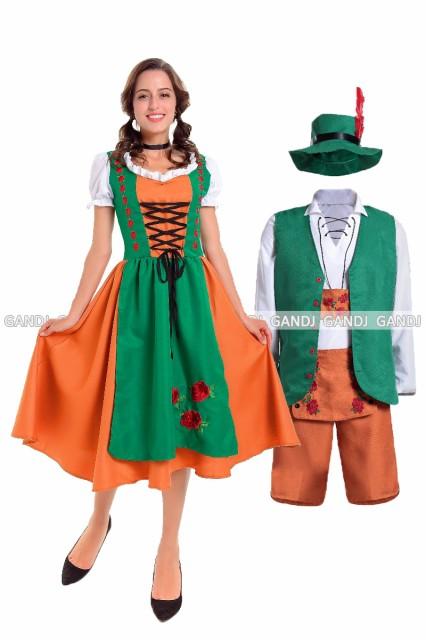 ハロウィン コスプレ ドイツ ビールガール 民族衣...