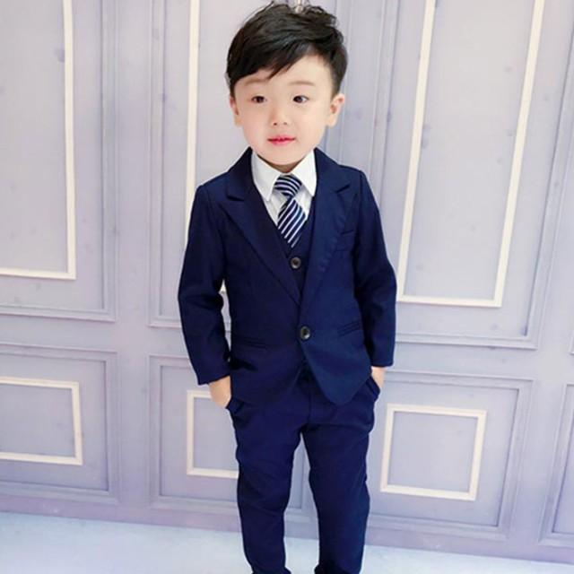 子供スーツ 3点セット スーツ セットアップ フォ...