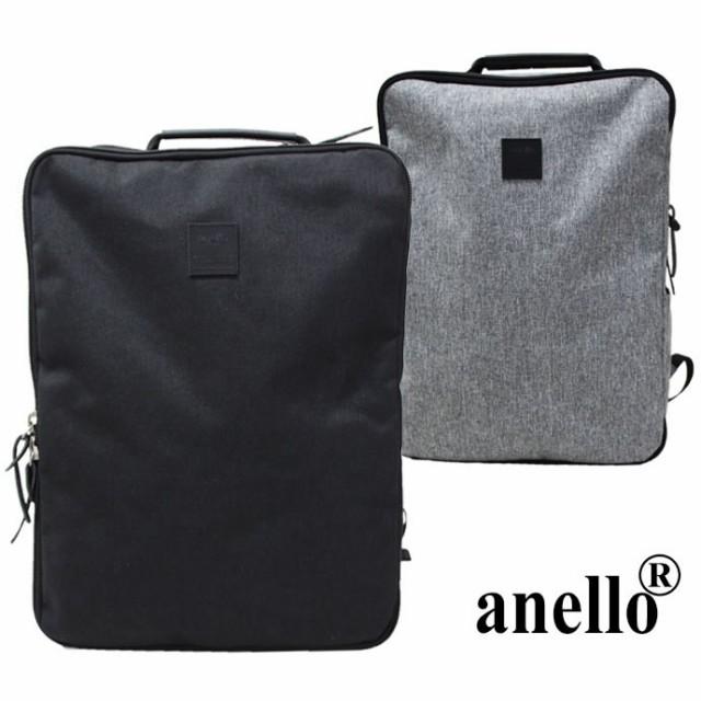 【anello アネロ】 アンティーク杢調ポリエステル...