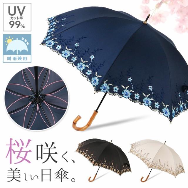 【47cm】日傘 晴雨兼用 uvカット99% レディース ...