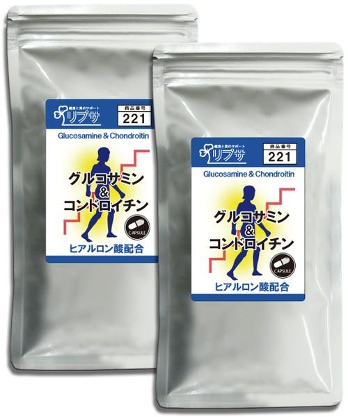 グルコサミン&コンドロイチン 約3か月分×2袋 C...