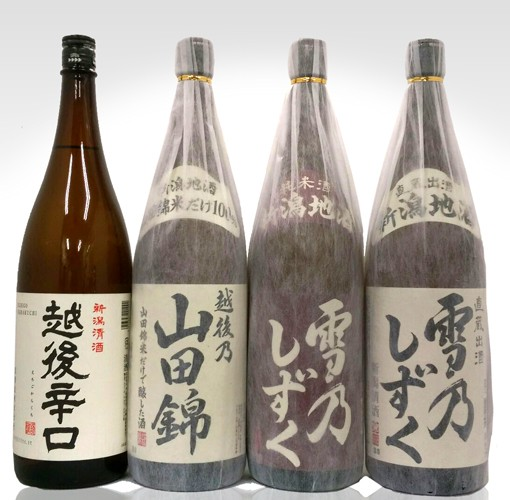 【送料無料】新潟地酒4本セット 1800ml×4※...