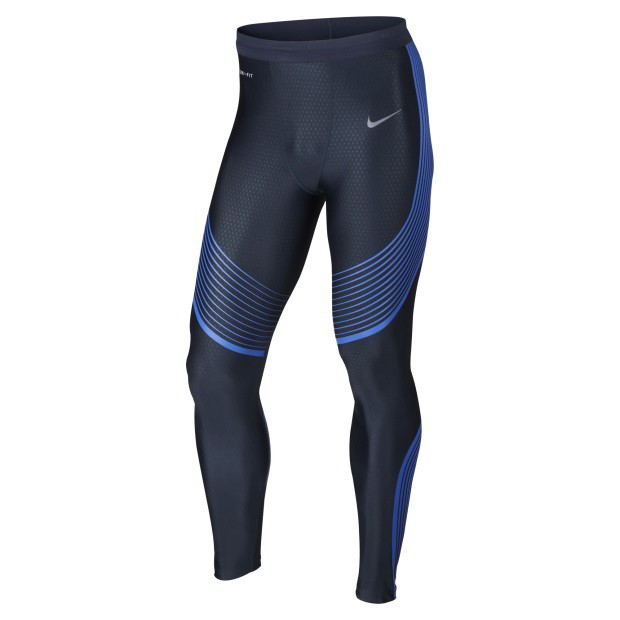 NIKE MEN POWER SPEED TIGHT MIDNIGHT NAVY  DRI...