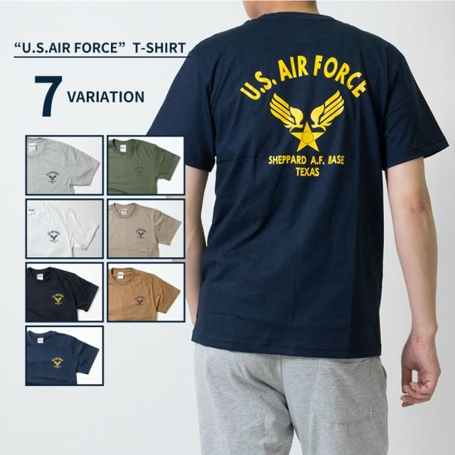 U.S. AIR FORCE バックロゴ プリントTシャツ メン...