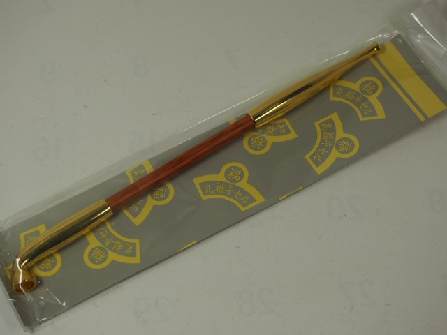 新品(手造り)丸福キセル 煙管  六寸 ゴールド金...