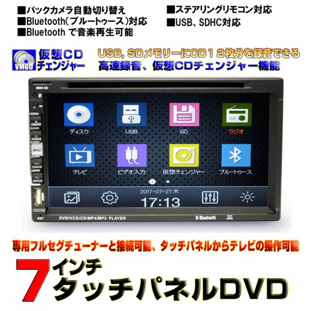 車載 DVDプレーヤー 2DIN 7インチDVDプレーヤー/...