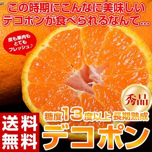 柑橘 デコポン 熊本県産 熟成デコポン 秀品 約1.2...
