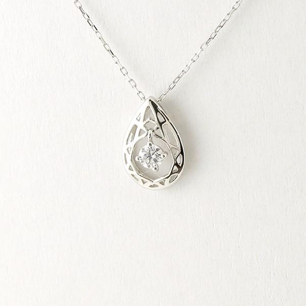 【あす着】プラチナ ネックレス ダイヤモンド 揺...