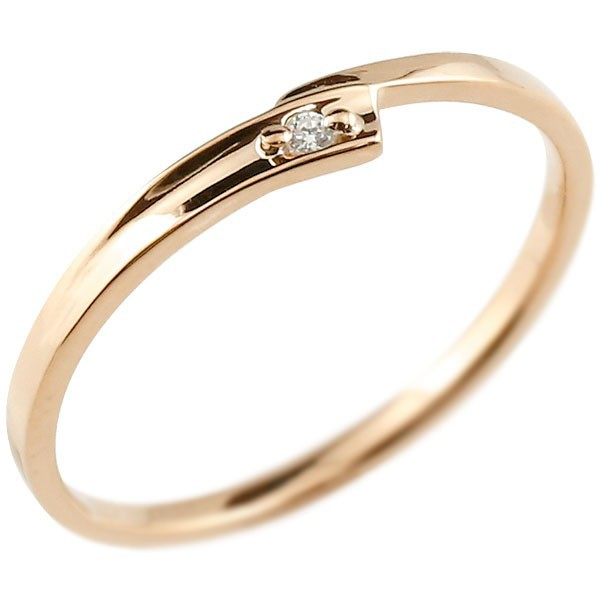 指輪 ピンキーリング ダイヤモンド ピンクゴール...