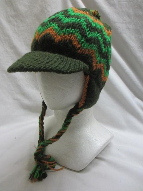 つば付、耳当てエスニック帽子エスニック衣料雑貨...