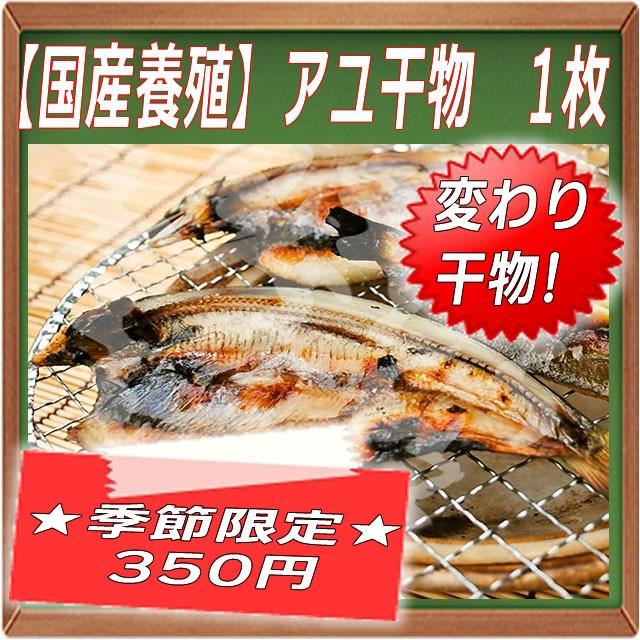 【国産養殖】アユ干物 1枚 鮎って夏が近づくと...