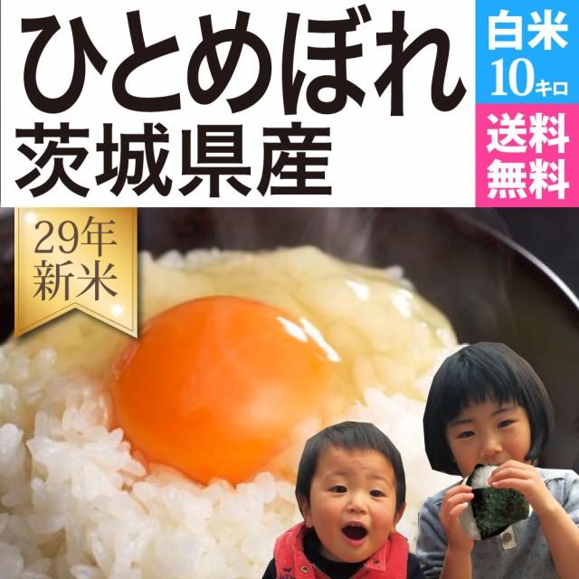 ひとめぼれ 白米 10kg 29年新米 茨城県産 送料無...