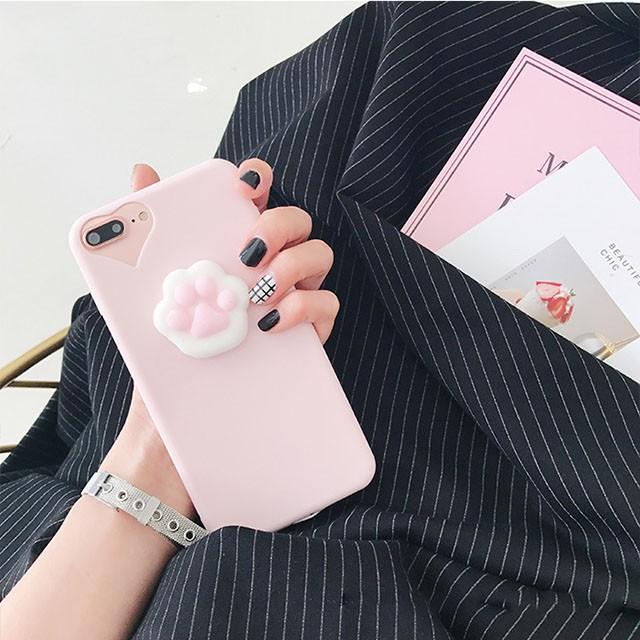 ねこ 肉球 ぷにぷに iPhone シェルカバー ケース...