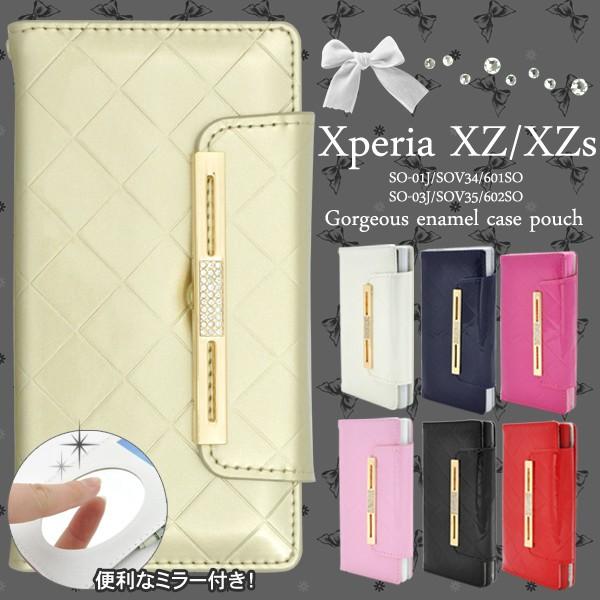 xperia xzs sov35 ケース 手帳型 so-01j 手帳 レ...
