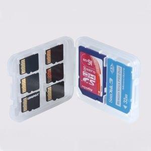 マルチクリアカードケース クリアメモリー カード...