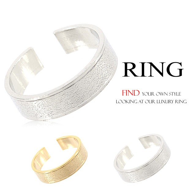 幅広リング 指輪 フリーサイズリングBNR-2 【...