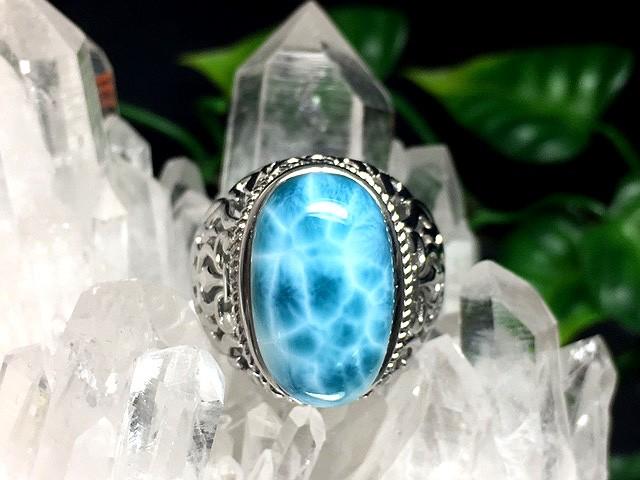1点物!美麗AAA天然石☆ラリマーリング(指輪) ...