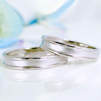 ホワイトゴールド 結婚指輪 ペアリング マリッジ...