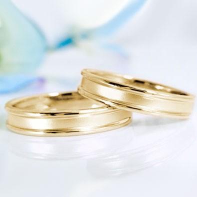 イエローゴールド ペアリング 結婚指輪 マリッジ...