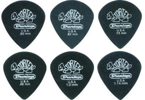 Jim Dunlop/ピック 482R TORTEX PitchBlack JAZZI...