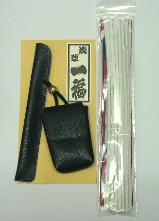 送料220円〜煙管(キセル)専用&煙草ケース(かます)...