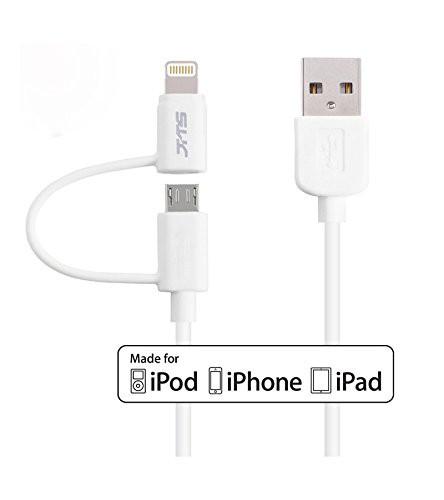 iPhone・アンドロイド兼用、高速充電ケーブル 1m...