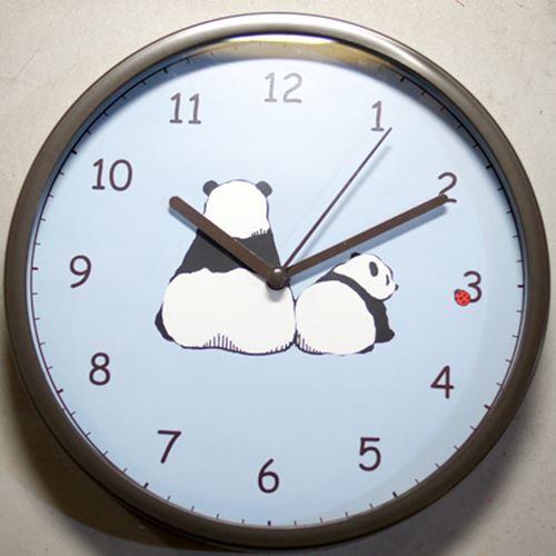 パンダ 壁掛け時計2A・乾電池付き 【JT011-F】