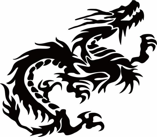 カッティングステッカー 〜 ドラゴン 龍 トライバ...