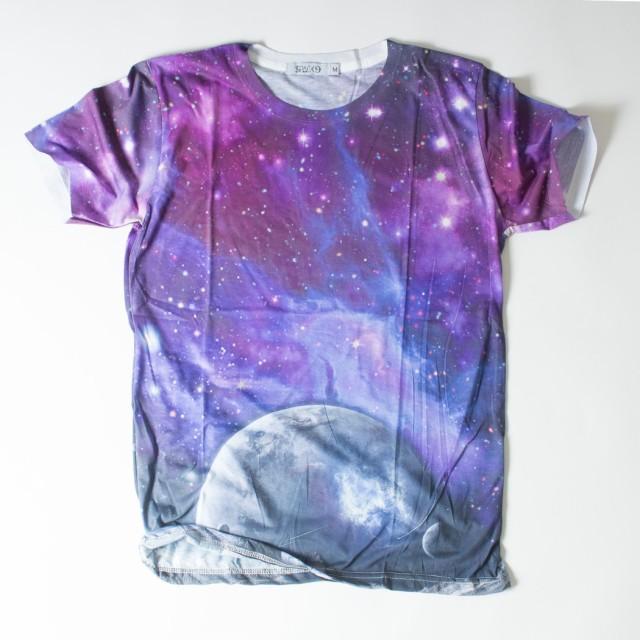 Space9 プリント Tシャツ 半袖 宇宙柄 メンズ レ...