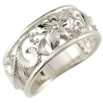 指輪 ハワイアンジュエリー リング 幅広 透かし ...