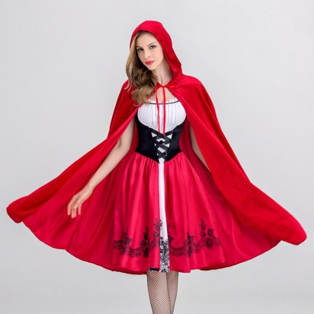 即納 クリスマス衣装 赤ずきん 魔女 マント ハロ...